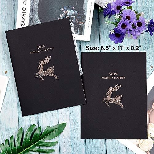 2 Pack: Tabbed 2019 Thick Paper Calendar Notebook
