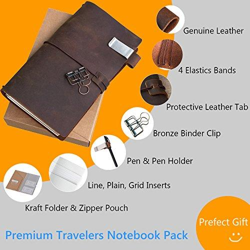 Refillable Leather Traveler's Journal Kit