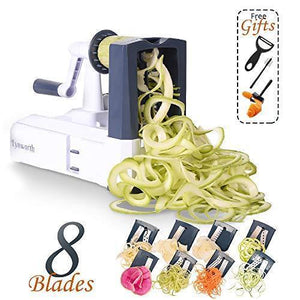 Heavy Duty Stainless Steel Vegetable Spiral Slicer with 8 Blades