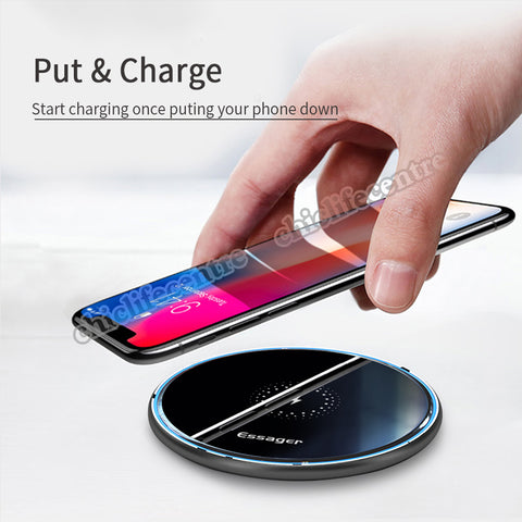 Wireless Charger Fast Charging Pad Induction For iPhone 11 Pro X Xiaomi mi 10 Samsung s20