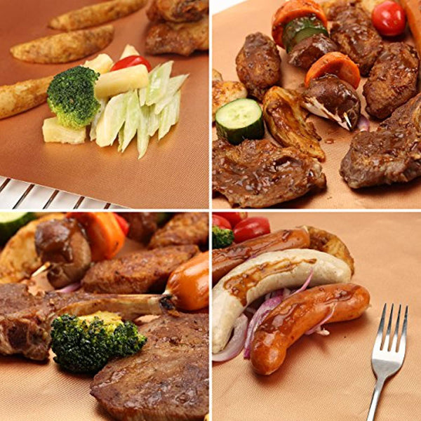 BBQ Nonstick Reusable Grill Mats - Set of 6