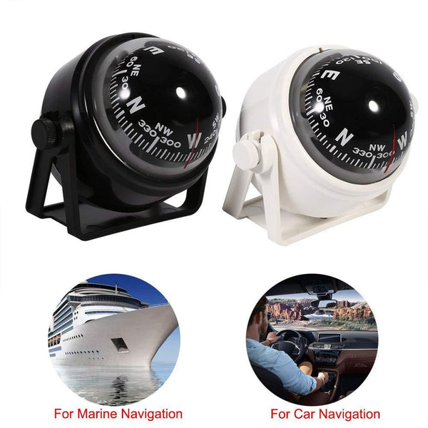 Car Mount Compass,Multi-functional Sea Marine Navigation Bracket Mount Compass Voyager Compass Outside Also Fits Boat Caravan Truck