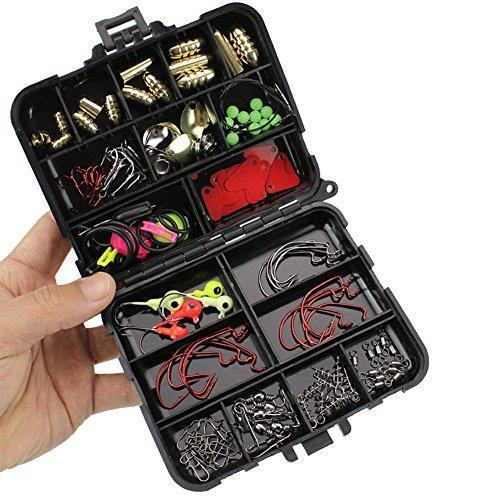 128 Piece: Fishing Tackle Box & Tackle Set