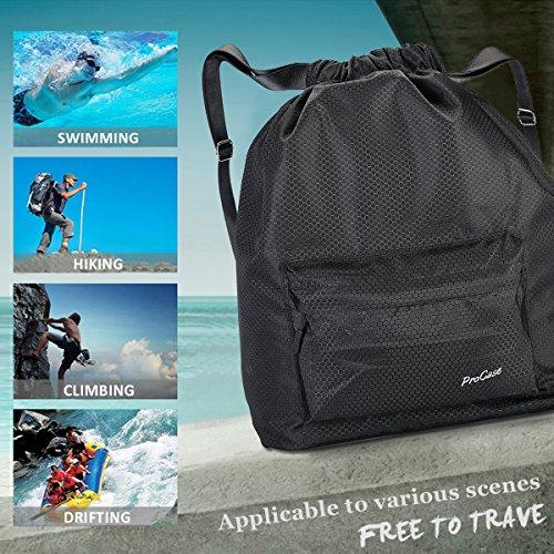 Water Resistant Drawstring Sports Gym Bag