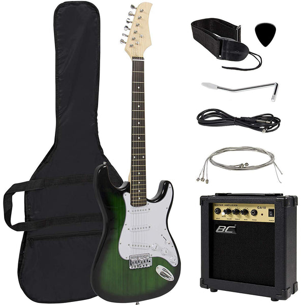 Beginner's Electric Guitar Bundle Kit with Free Guitar Case, Strap, 10W Amp & Tremolo Bar