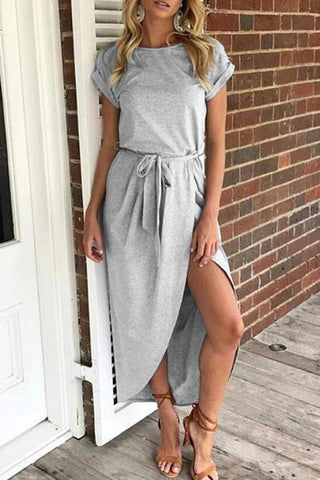 Asymmetric Hem Day Dress
