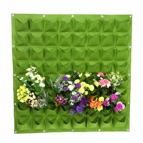Wall Hanging Grow Bags Green Planting Bags Grow Bags Pockets Plants Pots Holder Garden Supplies
