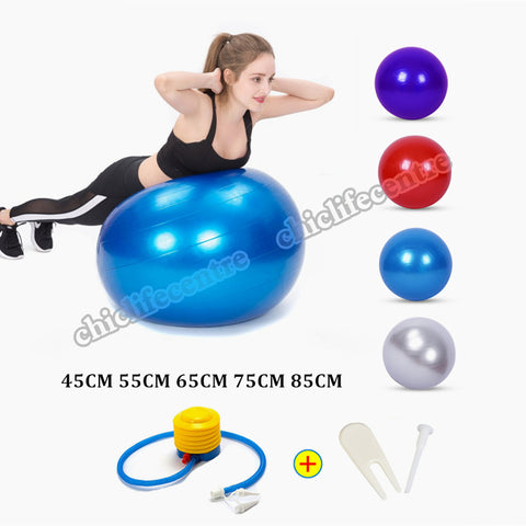 Sports Yoga Balls Bola Pilates Fitness Ball Gym Balance Fitball Exercise Pilates Workout Massage Ball with Pump
