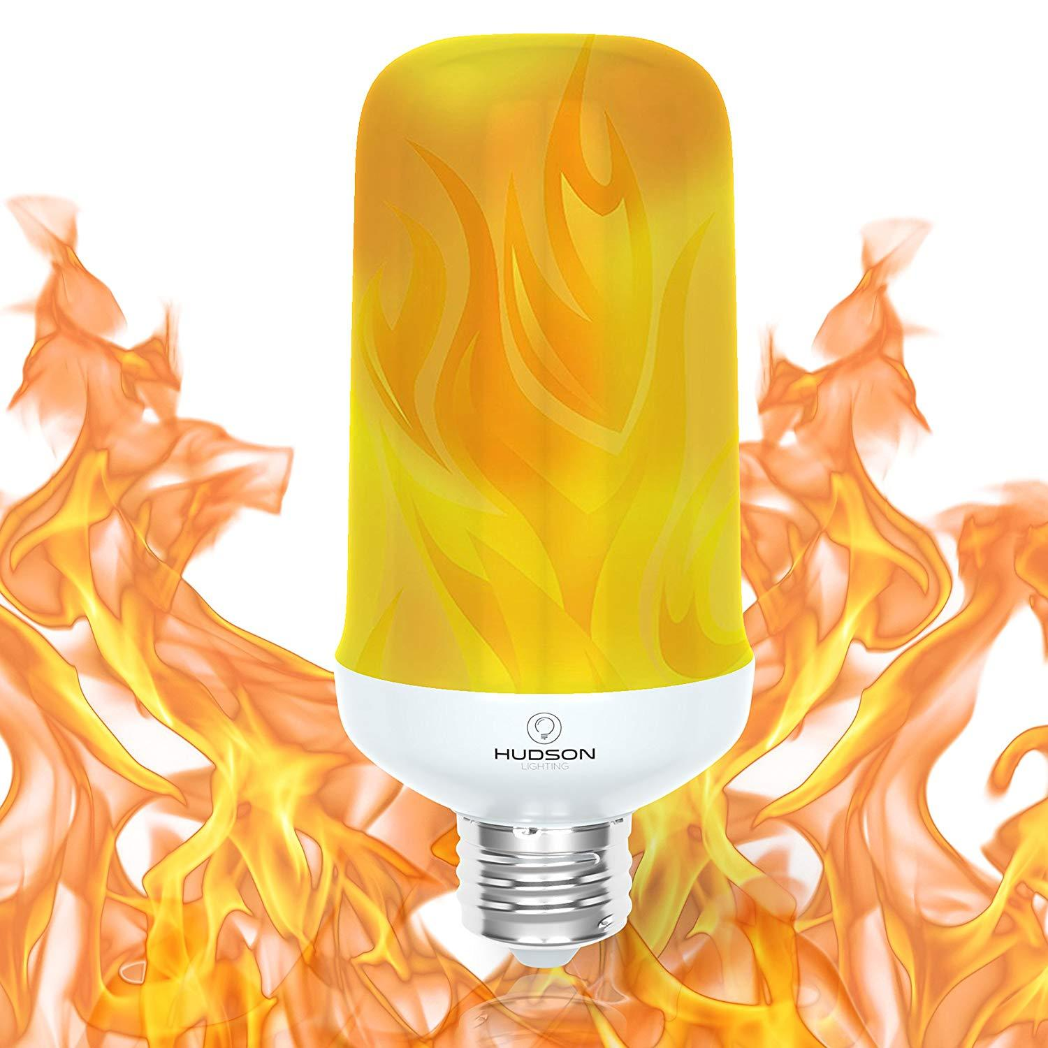 Gravity Sensor LED Flame Flicker Light Bulb