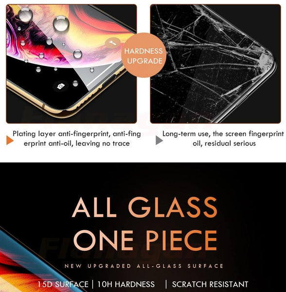 Tempered Glass 15D Protective Screen Glass iPhone