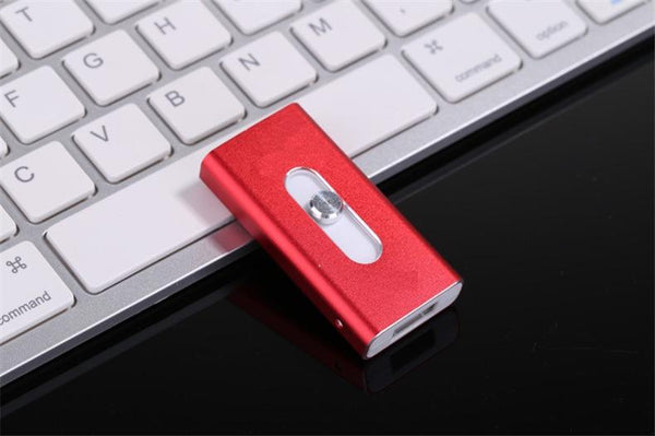 3-in-1 USB/Lightning Flash Storage Memory Drive For PC, iPhone, iPads and Android