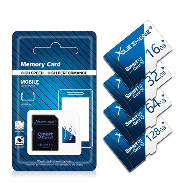 High-Speed Micro SD - Class 10 - 8GB-256GB Memory Card with Adapter