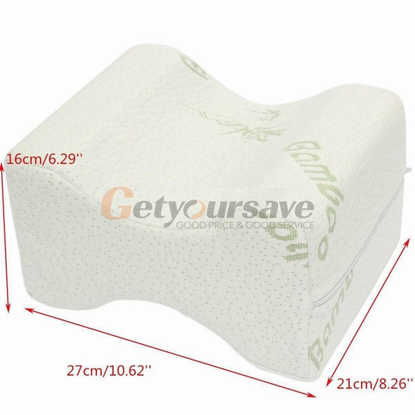 Memory Foam Knee Leg Pillow Bed Cushion Wedge Pressure Relief Sleep Support Aid
