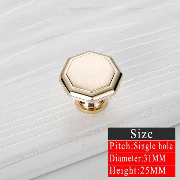5pcs Gold Door Handles Noble Drawer Pulls Kitchen Cabinet Knobs and Handles Fittings for Furniture Handles Hardware Accessories