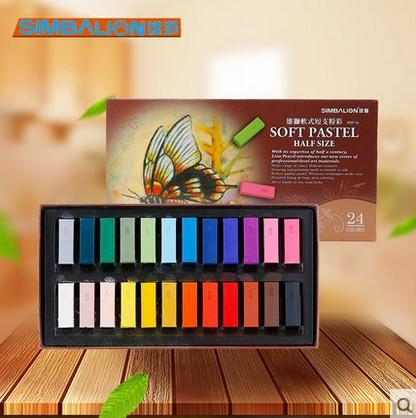 24/ 48 color chalk soft multicolor pastels
