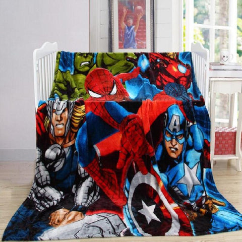 The Avengers Hero  Cartoon Flannel Blanket