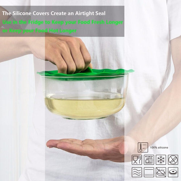 5 Pack: Silicon Splatter Guard Microwave Bowl Cover