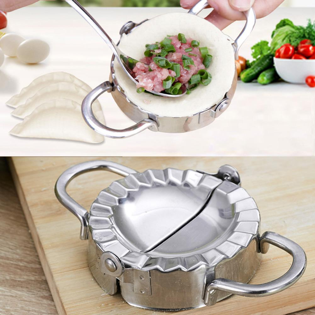Stainless Steel Kitchen accessories Dumpling Mould Press Tool Dough Pie Ravioli Kitchen Cooking Pastry Dumplings Jiaozi Maker