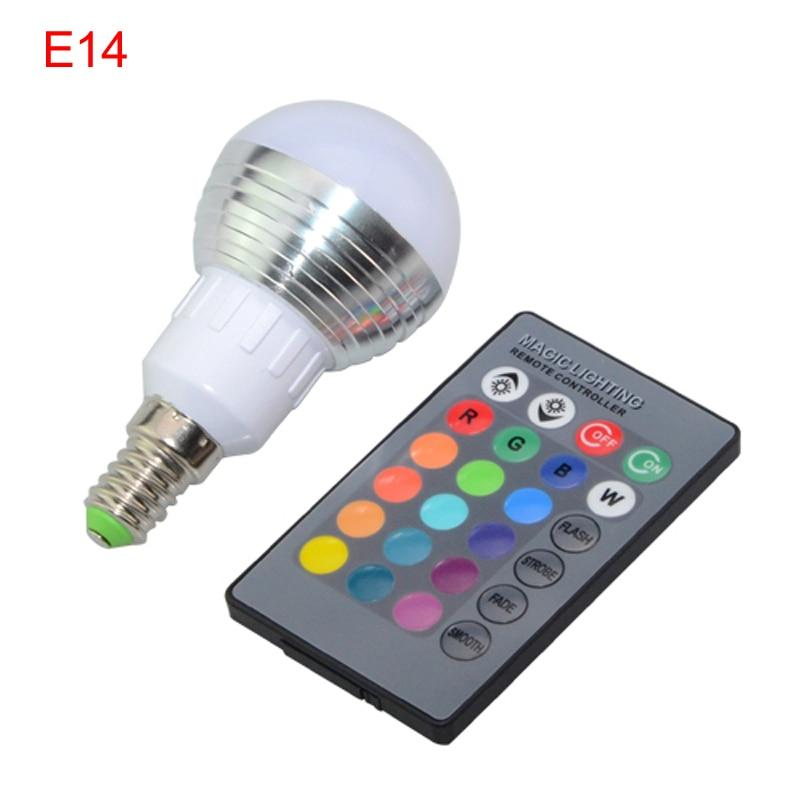 RGB LED Dimmable Magic Remote Control Light Bulb