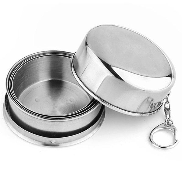Stainless Steel Folding Outdoor Camping Cup