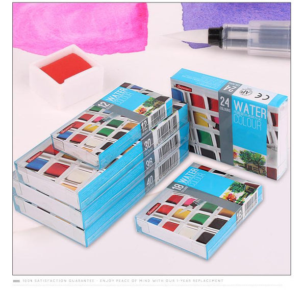 Solid Watercolor Paints Half Pans Pigment Set