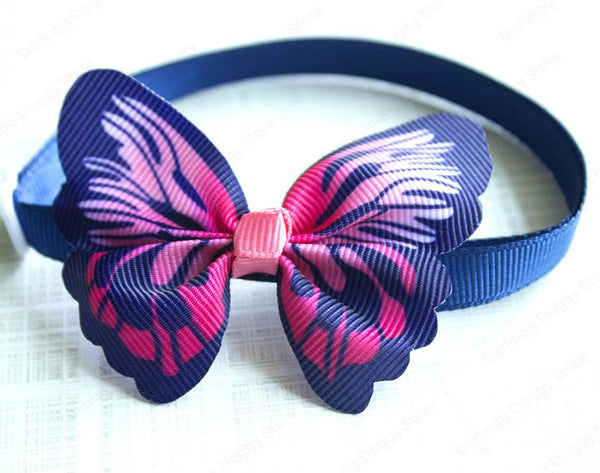 100 Piece: Adjustable Pet Butterfly Bow Tie Collars