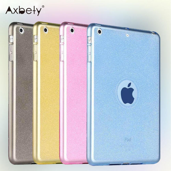 "Fashion Case For apple Ipad Pro 9.7 Case glitter Silicon Transparent Protection cover For iPad Pro 9.7""inch Soft Plastic Cover"