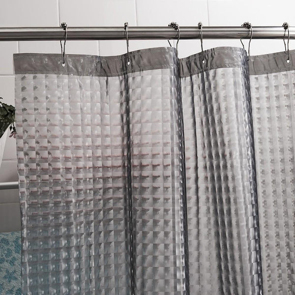 PEVA 3D Water Cube Thicken Shower Curtains 3D Semi-transparent Waterproof Shower Curtains Bathroom Curtain, 180x180cm, 180x200cm