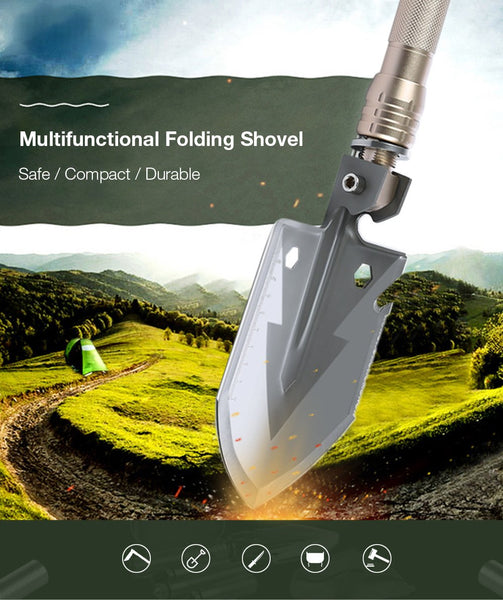 Multi-Function Outdoor Tactical Folding Survival Shovel