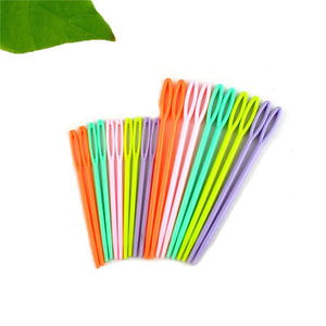 20 Pack: Mixed Multicolor Plastic Knitting Needles