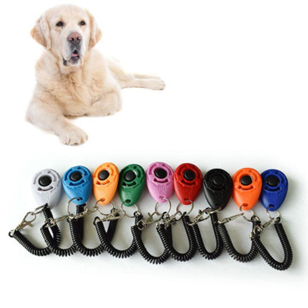 Dogs Training Clicker Universal Pet Trainer Keychain
