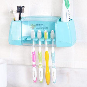 Multi-Functional Toothbrush & Toothpaste Wall Mounted Holder