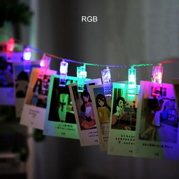 LED String Lights with Photo Clip Holders