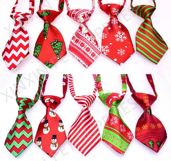 50pcs  Christmas Pet Dog Neckties Bow ties Handmade Adjustable Pet Dog Ties Festival Neckties Dog Grooming Supplies