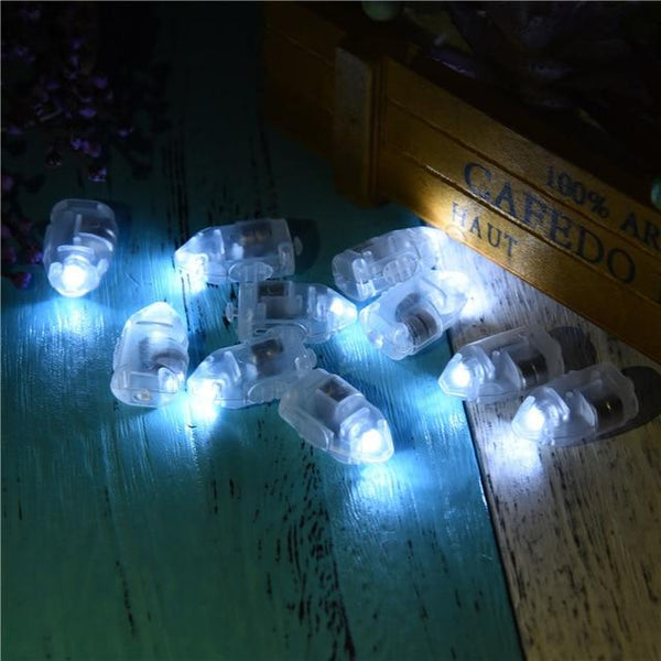 10 Pack: Mini Colored LED Bulbs