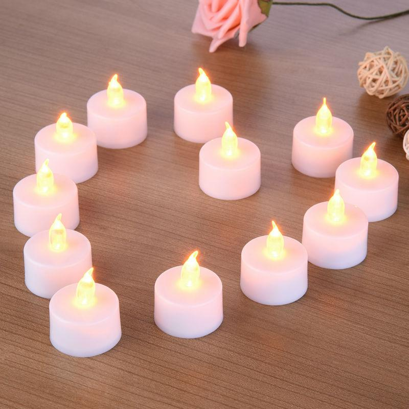 12 Pack: Vela LED Battery Powered Tea Light Candles