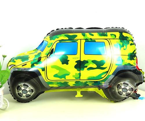 Car balloons camouflage off-road car foil balloons kids birthday gifts party decorations Large cartoon toys holiday supplies