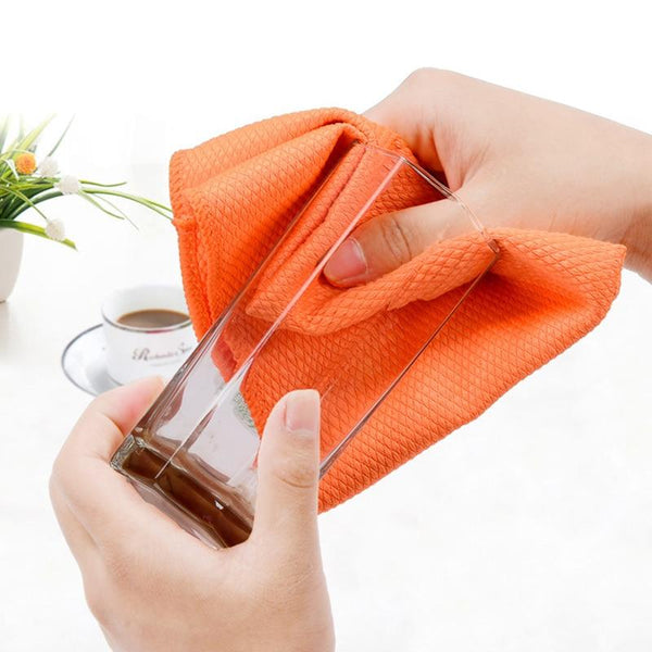 Household Glass Window Kitchen Cleaning Cloth Set