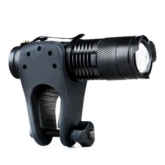 Portable Focus Adjust High Power LED Flashlight with Clip-On Holder