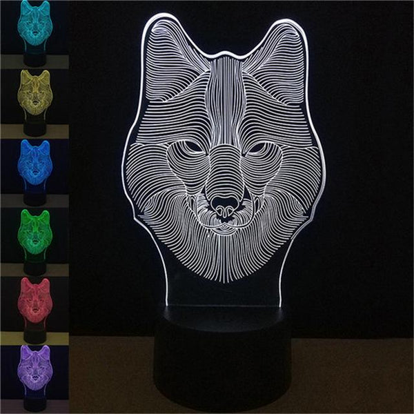 LED 3D Desk Lamp Night Light