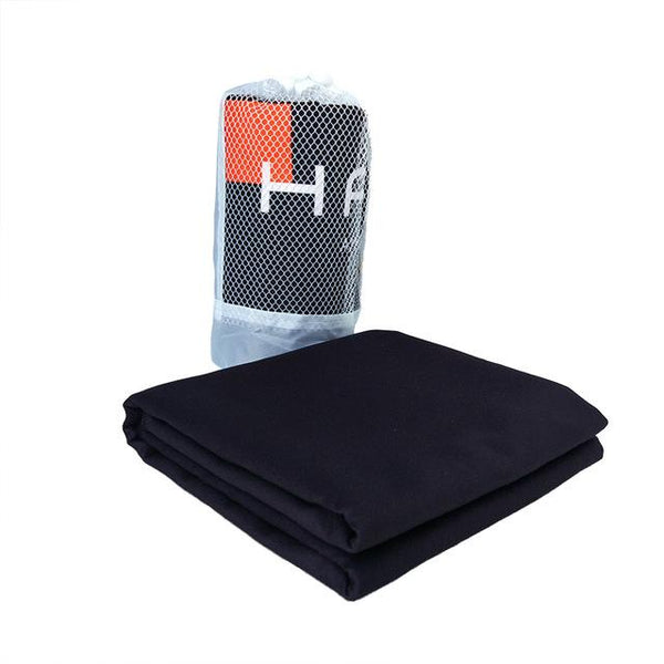 Zipsoft Black Sports Towel Quick drying Microfiber70*140cm Travel Swimming Pool Camping Bath Compressed Towel