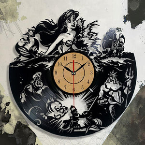 Fashion Design Clock CD Vinyl Record Wall Clock The Little Theme 3D Hanging Watches Duvar Saat Home Decoracion