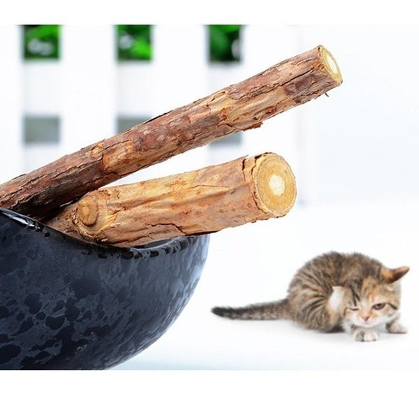 2 Pack: Pure Natural Wood Stick Catnip Cat Training Tool