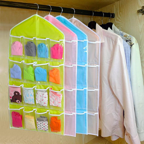 16 Pocket Multifunction Sorting Hanging Closet Storage Organizer
