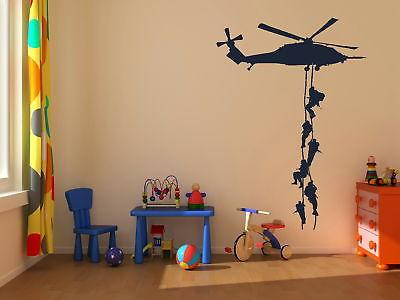 New Helicopter Army Sticker Adhesive Vinly Wall Art For Boys Bedroom Huge Marines Wall Stickers Home Decoration
