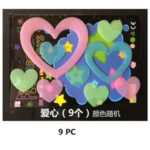 the wall decorations luminous star light patch fluorescent sticker 3D three-dimensional wall stickers bedroom roof Letter meteor