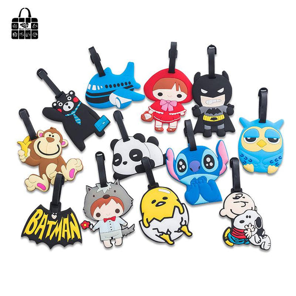 Cute Cartoon Silicon Luggage Travel Tags