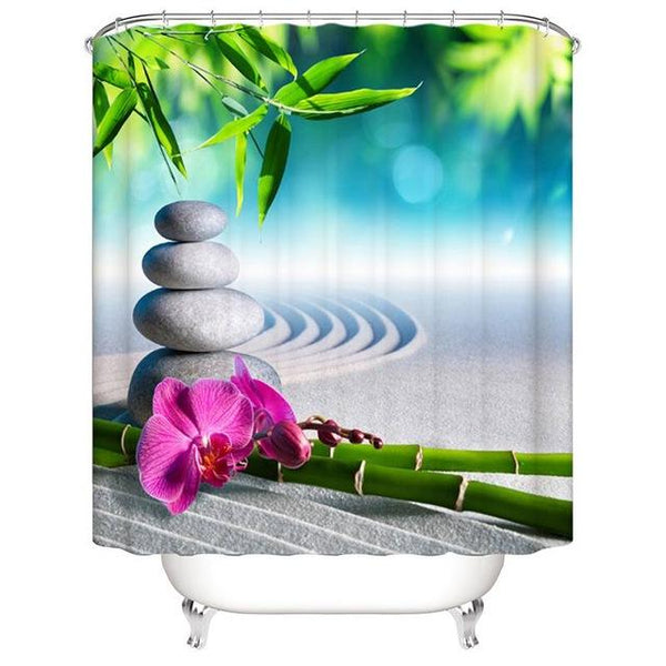 Urijk 1PC Modern Style Purple Bathroom Shower Curtains for Bath Waterproof Fabric Sea Bathroom Curtain for Shower Curtains