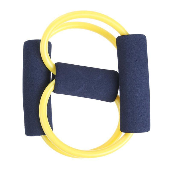 8 Type Elastic Tension Rope Gym Fitness Sport Rubber Loop Pull Rope Exercise Stretch Belt Pilates Yoga Belt 2 Colors