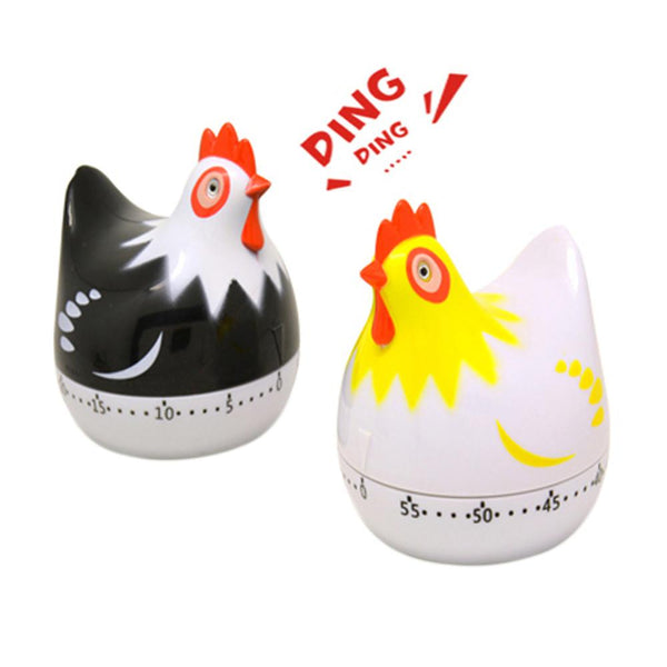 Kitchen Timers Dial Timers For Cooking Eggs Set Time Reminder Cute Animal Hen 60 Minutes Alarm Clock Loud  Desktop Clock F1226